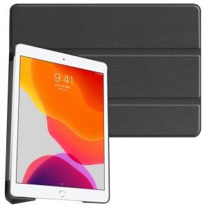 Двухсторонний чехол книжка для iPad 10.2 2019 с подставкой - Черный