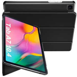 Двухсторонний чехол книжка для Samsung Galaxy Tab A7 10.4 2020 SM-T505 с подставкой - Черный