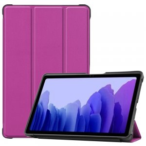 Двухсторонний чехол книжка для Samsung Galaxy Tab A7 10.4 2020 SM-T505 с подставкой - Фиолетовый