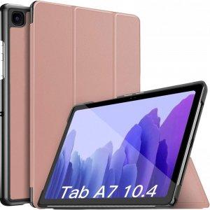 Двухсторонний чехол книжка для Samsung Galaxy Tab A7 10.4 2020 SM-T505 с подставкой - Розовое Золото