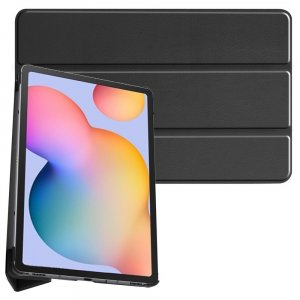 Двухсторонний чехол книжка для Samsung Galaxy Tab S6 Lite 10.4 с подставкой - Черный
