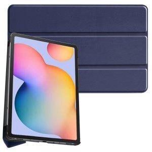 Двухсторонний чехол книжка для Samsung Galaxy Tab S6 Lite 10.4 с подставкой - Синий
