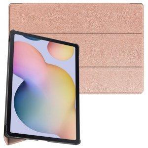 Двухсторонний чехол книжка для Samsung Galaxy Tab S7 Plus 12.4 с подставкой - Розовый