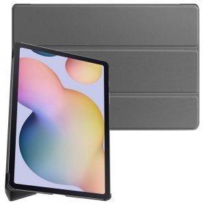 Двухсторонний чехол книжка для Samsung Galaxy Tab S7 Plus 12.4 с подставкой - Серый