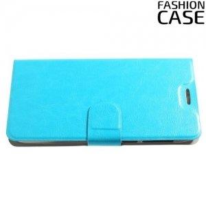 Fashion Case чехол книжка флип кейс для Alcatel Idol 5 - Голубой