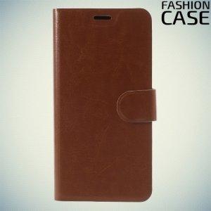 Fashion Case чехол книжка флип кейс для Asus Zenfone 4 Max ZC520KL - Коричневый