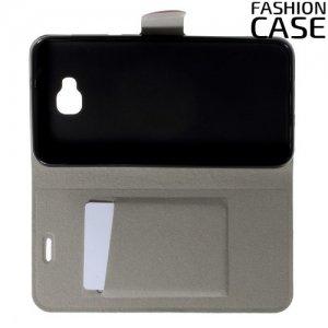 Fashion Case чехол книжка флип кейс для Asus Zenfone 4 Selfie ZD553KL / Live ZB553KL - Розовый