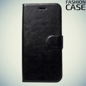 Fashion Case чехол книжка флип кейс для Asus Zenfone 4 Selfie ZD553KL / Live ZB553KL - Черный