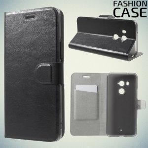Fashion Case чехол книжка флип кейс для HTC U11 Plus - Черный