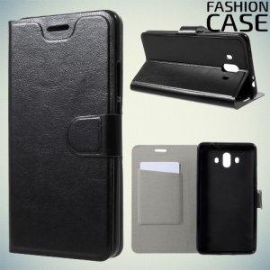 Fashion Case чехол книжка флип кейс для Huawei Mate 10 - Черный