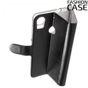 Fasion Case чехол книжка флип кейс для HTC Desire 10 pro - Черный