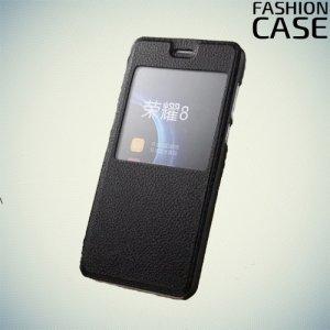 Fasion Case чехол книжка флип кейс для Huawei Honor 8 - Черный