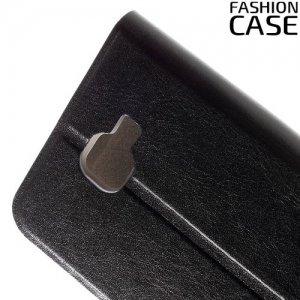 Fasion Case чехол книжка флип кейс для LG K3 k100ds - Черный