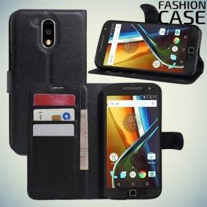 Fasion Case чехол книжка флип кейс для Motorola Moto G4 / G4 Plus  - Черный