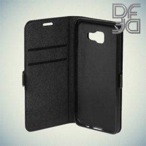 DF чехол книжка флип кейс для Samsung Galaxy A5 2016 SM-A510F - Черный