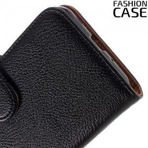 Fasion Case чехол книжка флип кейс для Samsung Galaxy J3 2016 SM-J320F - Черный