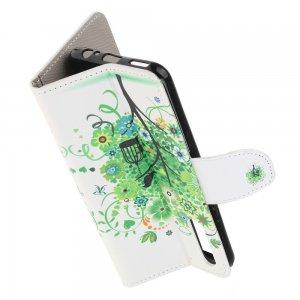 Флип чехол книжка для Huawei Honor 9X / 9X Pro с рисунком зеленое дерево