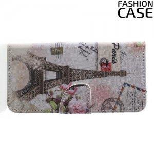 Флип чехол книжка для Huawei Honor Play с рисунком париж