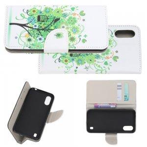 Флип чехол книжка для Samsung Galaxy A01 с рисунком зеленое дерево