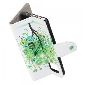 Флип чехол книжка для Samsung Galaxy Note 10 Lite с рисунком дерево