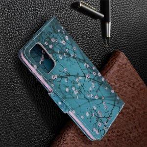 Флип чехол книжка для Samsung Galaxy S20 Plus с рисунком цветы