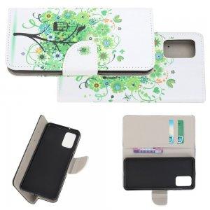 Флип чехол книжка для Samsung Galaxy S20 Plus с рисунком зеленое дерево