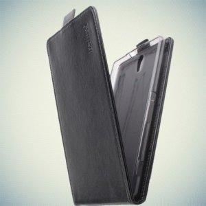 Флип чехол книжка для Sony Xperia C5 Ultra - Черный
