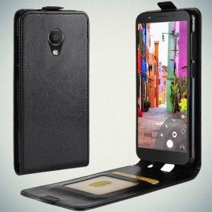 Флип чехол книжка вертикальная для Alcatel 1C 5009D Dual Sim - Черный