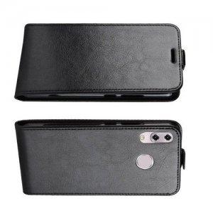 Флип чехол книжка вертикальная для Asus Zenfone Max Pro M2 ZB631KL - Черный