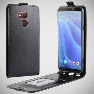 Флип чехол книжка вертикальная для HTC Desire 12s - Черный