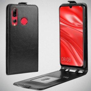 Флип чехол книжка вертикальная для Huawei Honor 20 Lite - Черный