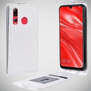 Флип чехол книжка вертикальная для Huawei Honor 20 Lite - Белый