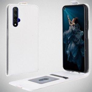 Флип чехол книжка вертикальная для Huawei Nova 5T - Белый