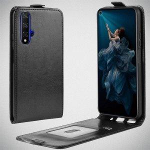 Флип чехол книжка вертикальная для Huawei Nova 5T - Черный
