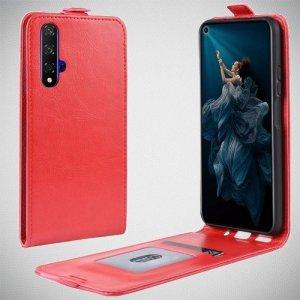 Флип чехол книжка вертикальная для Huawei Nova 5T - Красный