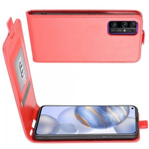 Флип чехол книжка вертикальная для Huawei Honor 30 - Красный