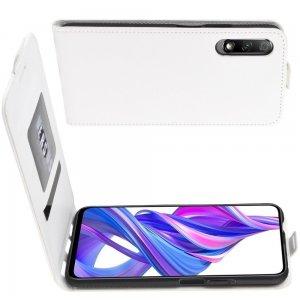 Флип чехол книжка вертикальная для Huawei Honor 9X / 9X Pro - Белый