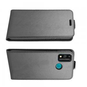 Флип чехол книжка вертикальная для Huawei Honor 9X Lite - Черный
