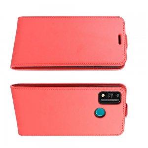 Флип чехол книжка вертикальная для Huawei Honor 9X Lite - Красный