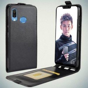 Флип чехол книжка вертикальная для Huawei Honor Play - Черный