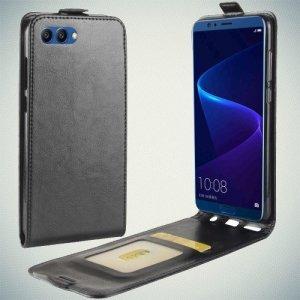 Флип чехол книжка вертикальная для Huawei Honor View 10 (V10) - Черный
