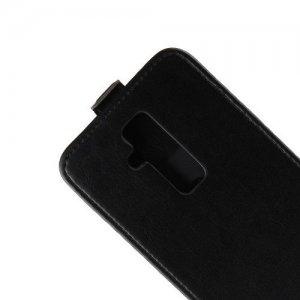 Флип чехол книжка вертикальная для Huawei Mate 20 lite - Черный