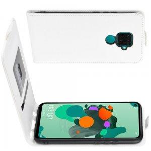 Флип чехол книжка вертикальная для Huawei Mate 30 Lite - Белый