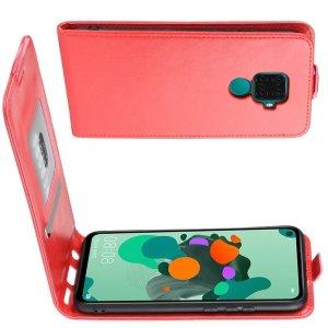 Флип чехол книжка вертикальная для Huawei Mate 30 Lite - Красный