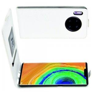 Флип чехол книжка вертикальная для Huawei Mate 30 Pro - Белый