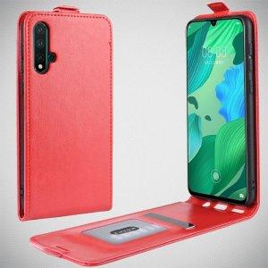 Флип чехол книжка вертикальная для Huawei nova 5 - Красный