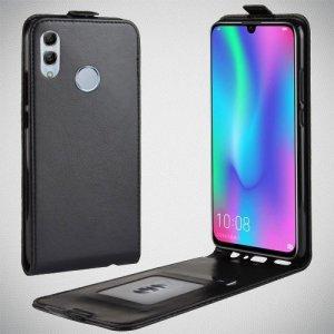 Флип чехол книжка вертикальная для Huawei P Smart 2019 / Honor 10 lite - Черный