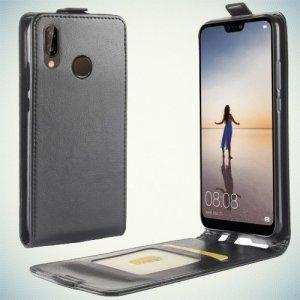 Флип чехол книжка вертикальная для Huawei P20 Lite - Черный