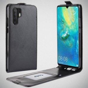 Флип чехол книжка вертикальная для Huawei P30 Pro - Черный
