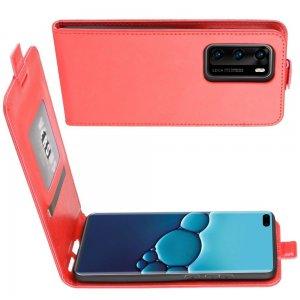 Флип чехол книжка вертикальная для Huawei P40 - Красный